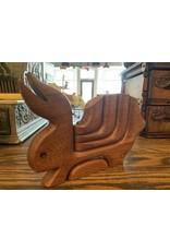 SPV Scandinavian Wood Rabbit Candleholder