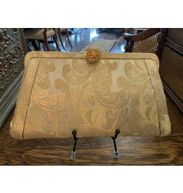 SPV GLITTERY GOLD HL (HARRY LEVINE) EVENING BAG CLUTCH PURSE