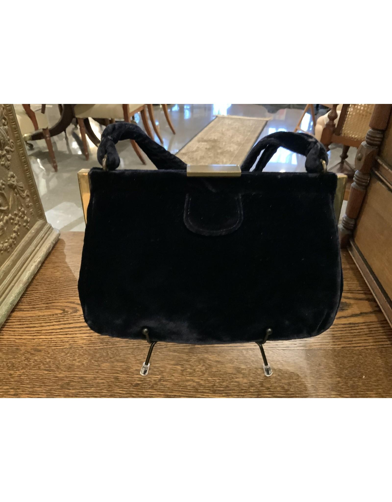 SPV Vintage Garay Blue Velvet handbag