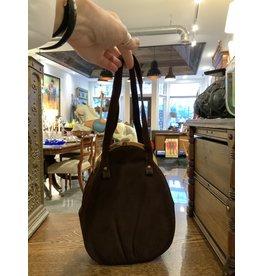 SPV Vintage 1940s    Crown Lewis Dark Plum Handbag