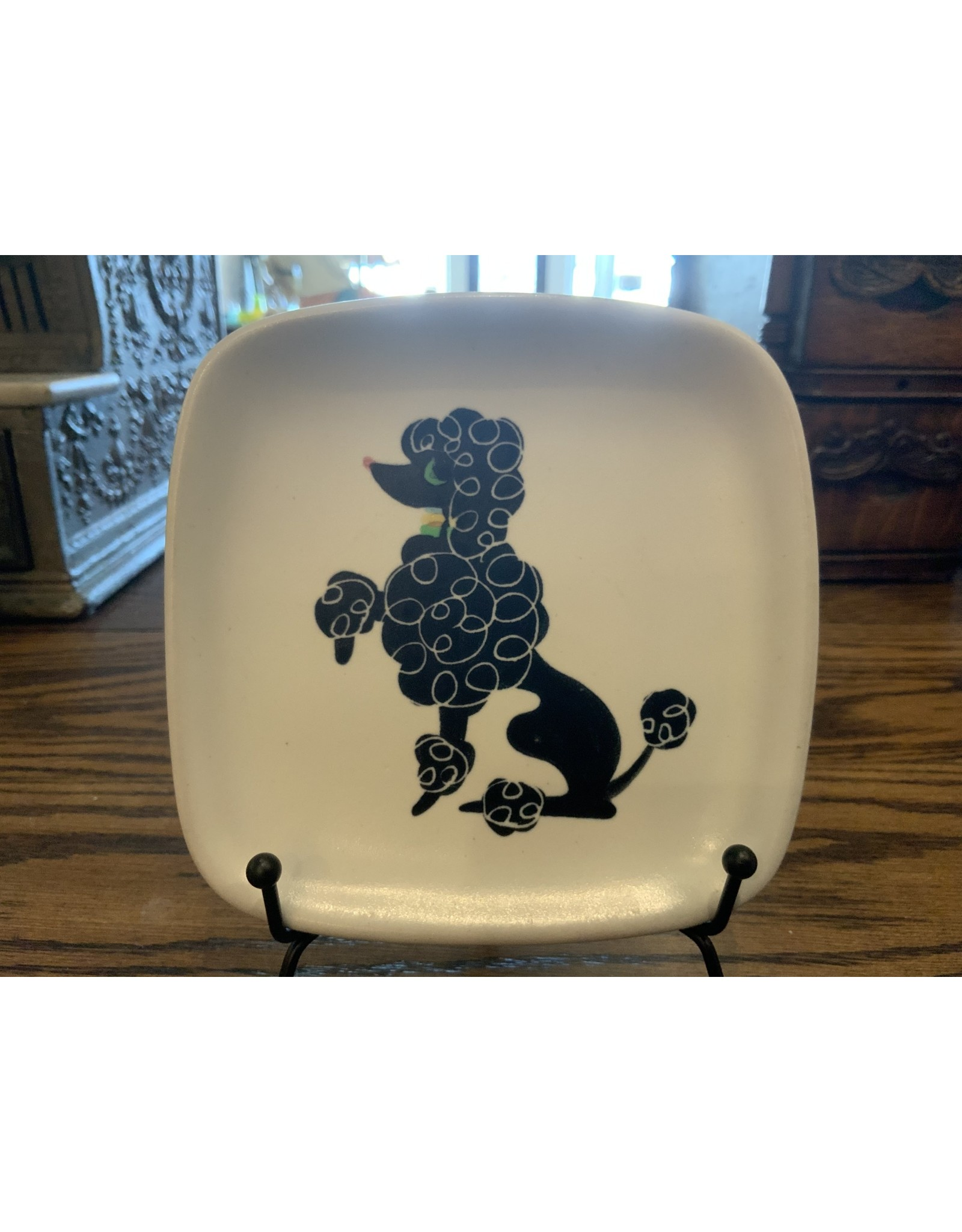 SPV Mid-Century Modern Glidden Poodle Plates and 3-part hors d'oeuvre platter set