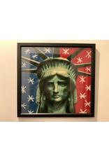 SPV Liberty Head By Steve Kaufman Framed