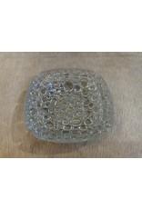 SPV Vintage Blenko Glass Pebble Bubble Ashtray Textured Art Glass Mid Century Modern