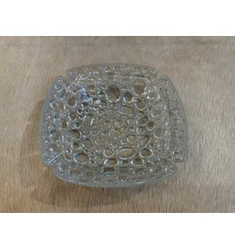 SPV Vintage Blenko Glass Pebble Bubble Ashtray Textured Art Glass Mid Century Modern