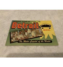 SPV Vintage 1950s Pictorial Guide of Detroit Tourist Booklet
