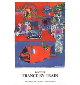 SPV DISCOVER FRANCE BY TRAIN - COTE D'AZUR TRAVEL ADVERTISING POSTER