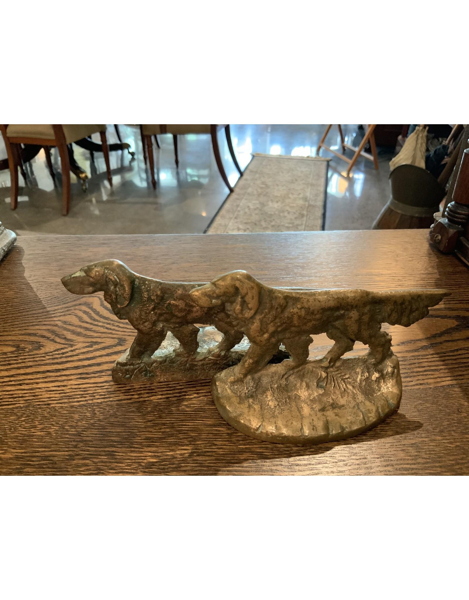SPV Vintage Brass Setter Dog Book Ends