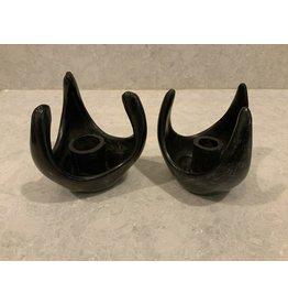 SPV Pair of Black Mid Century Modern candle Holders