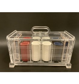 SPV Vintage Lucite Poker Chip and Card Caddy