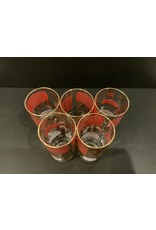 SPV Mid Century Modern Ice Bucket and set of 5 Glasses with Cocktail Recipes on them