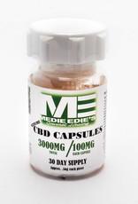 Medie Edie's CBD Capsules-30ct Bottle/100mg/3000mg
