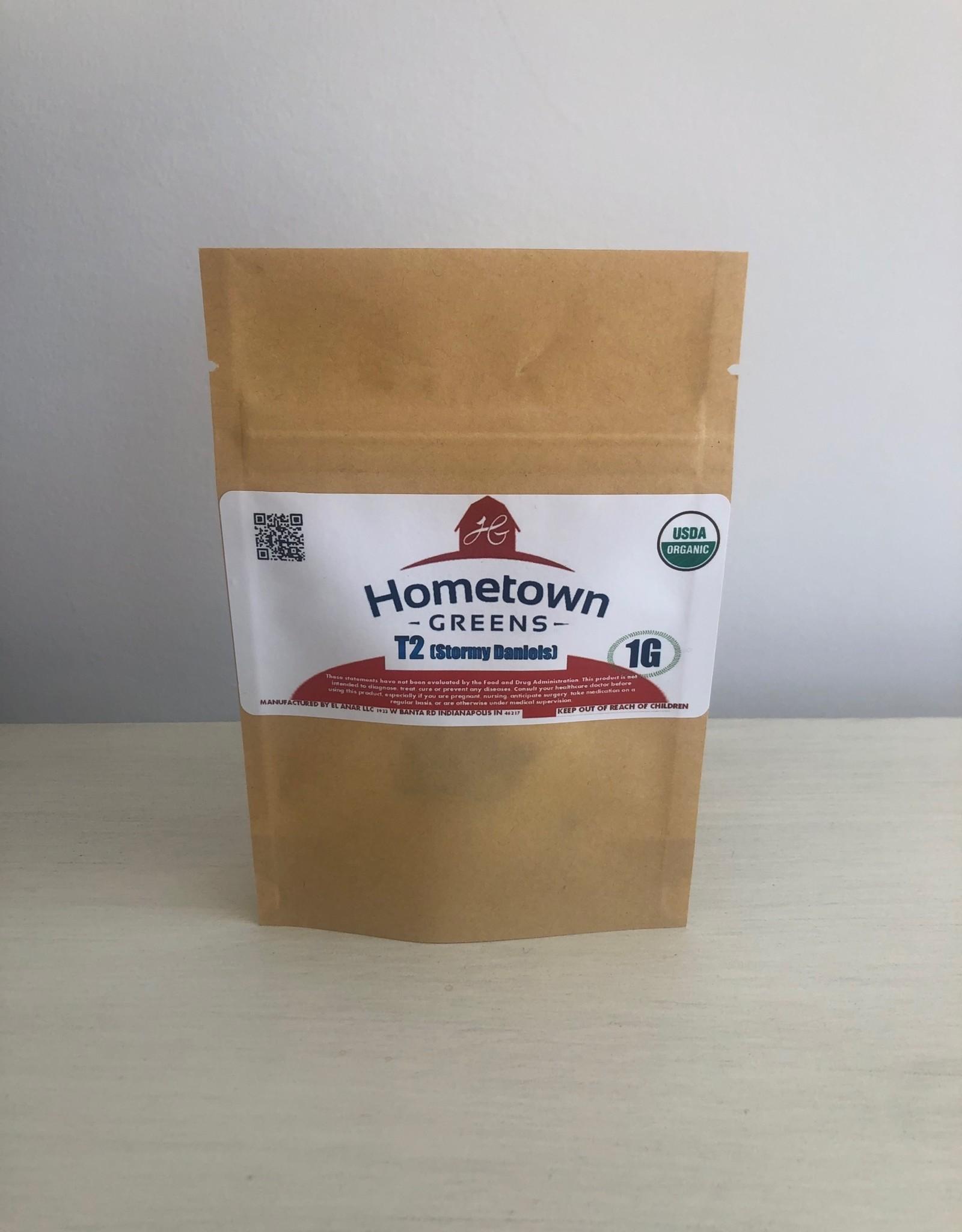Hometown Greens T2 (Stormy Daniels) Hemp Flower - 1g