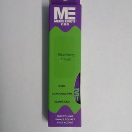 Medie Edie's Medie Edie's Strawberry Cough Disposable CBD Vape - 225mg - 0.5mL