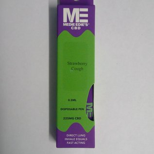 Medie Edie's Strawberry Cough Disposable CBD Vape - 225mg - 0.5mL