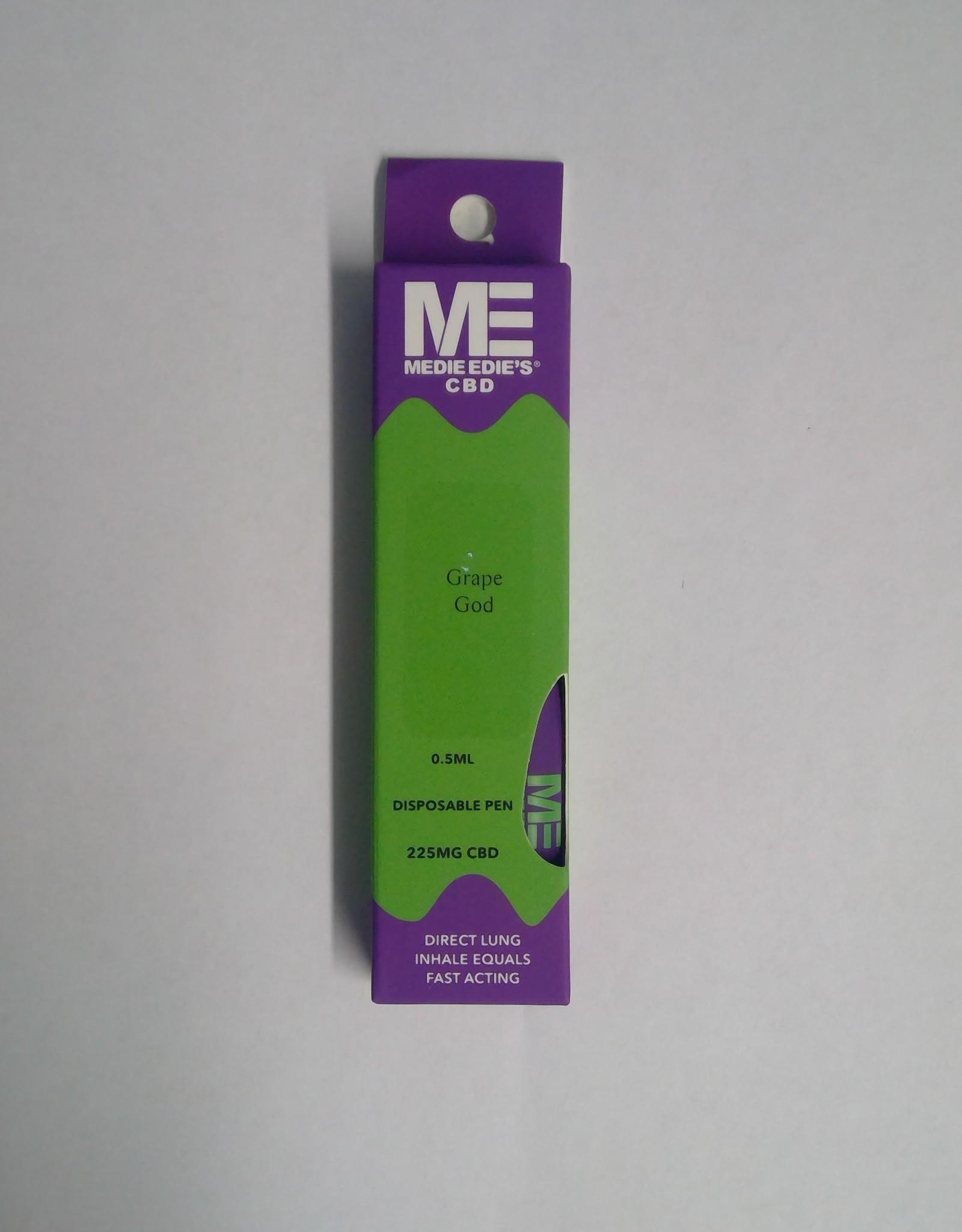 Medie Edie's Grape God Disposable CBD Vape - 225mg - 0.5mL