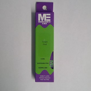 Medie Edie's Grape God Disposable CBD Vape - 225mg - 0.5mL