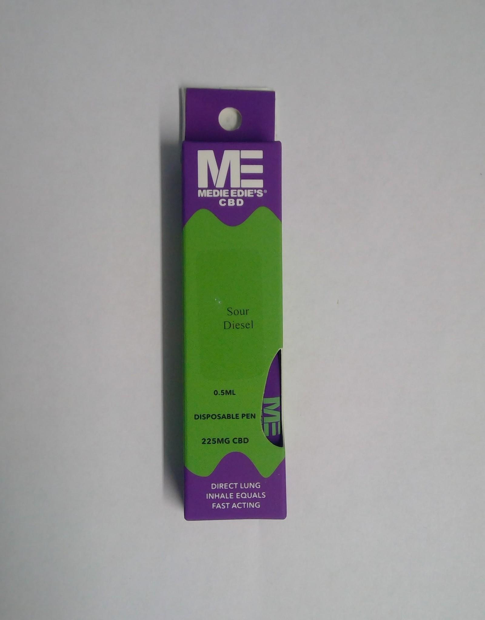 Medie Edie's Sour Diesel Disposable CBD Vape - 225mg - 0.5mL