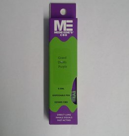 Medie Edie's Medie Edie's Grand Daddy Purp Disposable CBD Vape - 225mg - 0.5mL