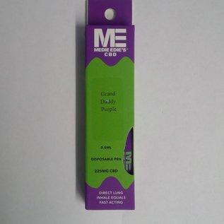 Medie Edie's Grand Daddy Purp Disposable CBD Vape - 225mg - 0.5mL