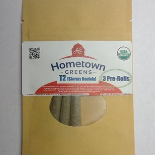 Hometown Greens T2 (Stormy Daniels) Hemp Flower - Pack of 3 Pre-Rolls (2.4g)