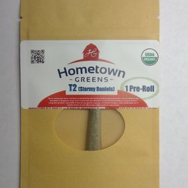 Hometown Greens Hometown Greens T2 (Stormy Daniels) Hemp Flower - Single Pre-Roll (0.8g)