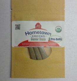 Hometown Greens Hometown Greens Suver Haze Hemp Flower - Pack of 3 Pre-Rolls (2.4g)