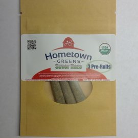 Hometown Greens Hometown Greens Suver Haze Hemp Flower - Pack of 3 Pre-Rolls (2.4g)