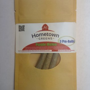 Hometown Greens Purple Melon Hemp Flower - Pack of 3 Pre-Rolls (2.4g)