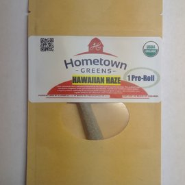 Hometown Greens Hometown Greens Hawaiian Haze Hemp Flower - Single Pre-Roll (0.8g)