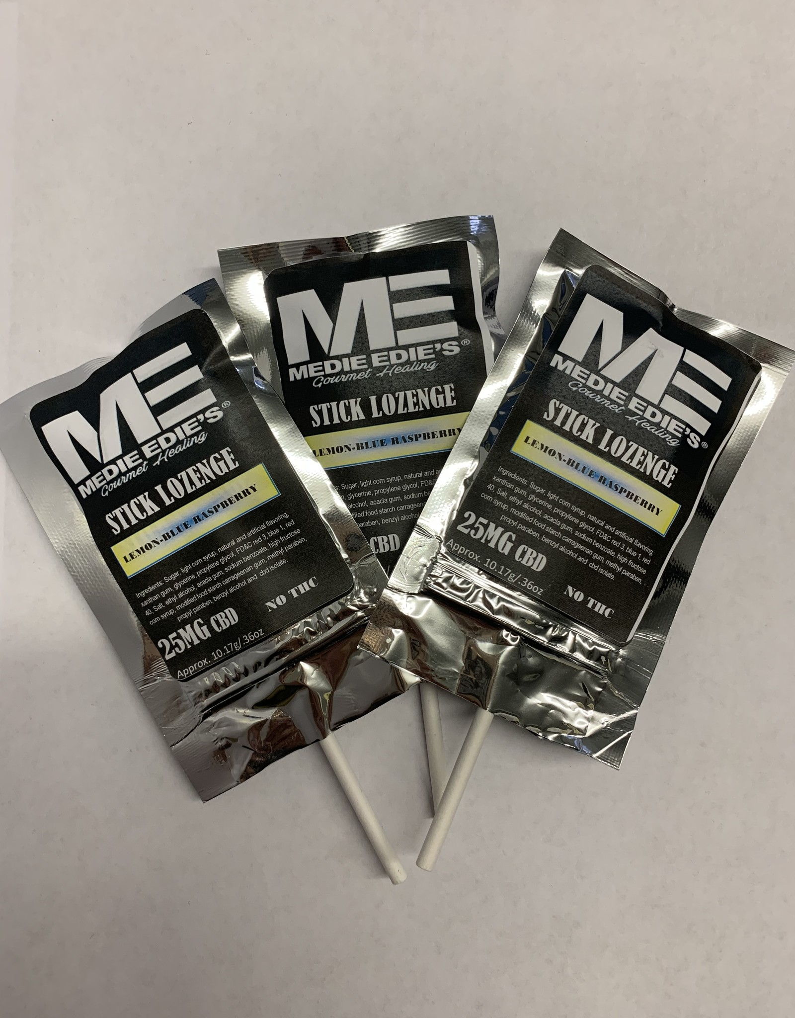 Medie Edie's Lemon Blue Raspberry CBD Stick Lozenge - 25mg
