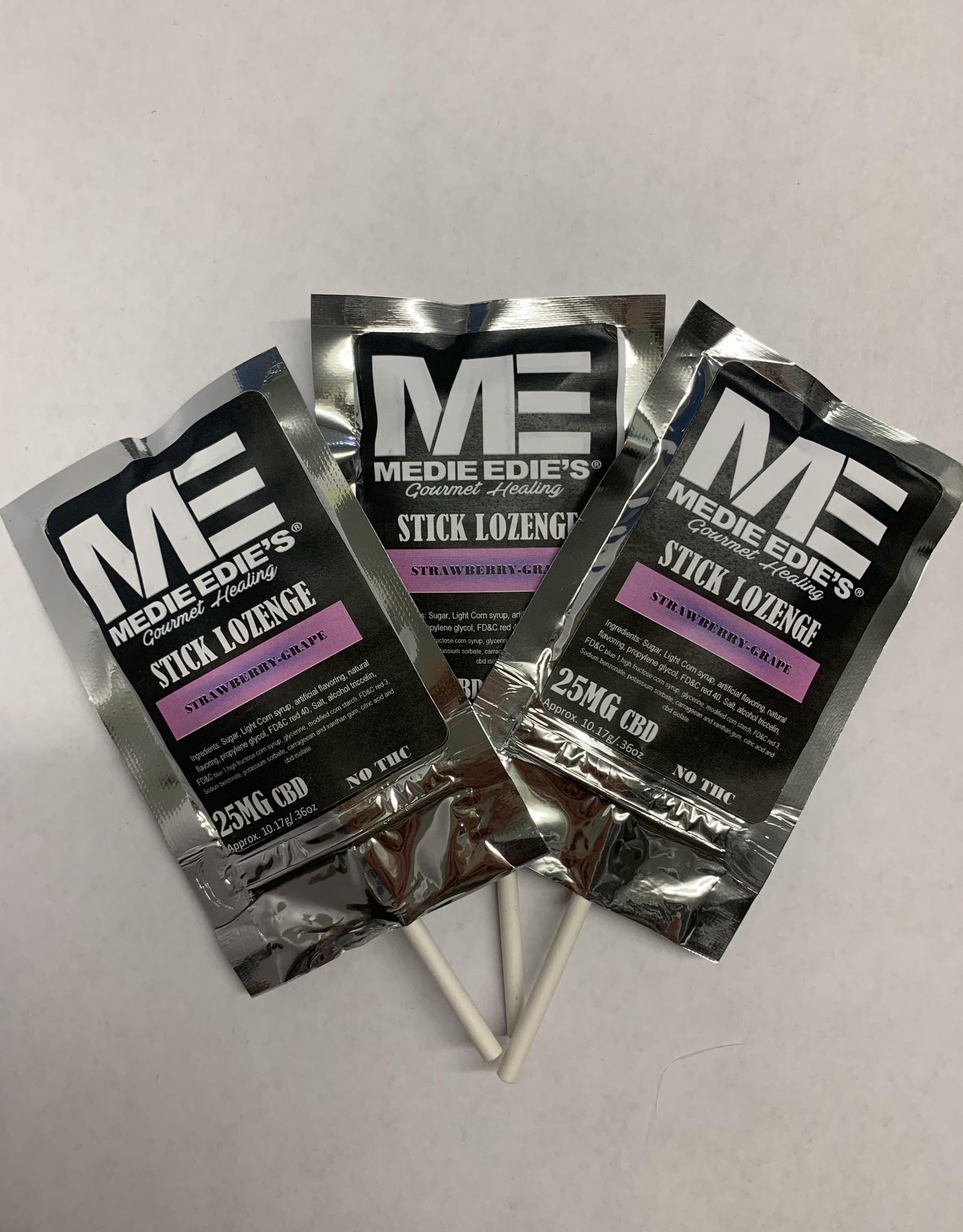Medie Edie's Strawberry Grape CBD Stick Lozenge - 25mg