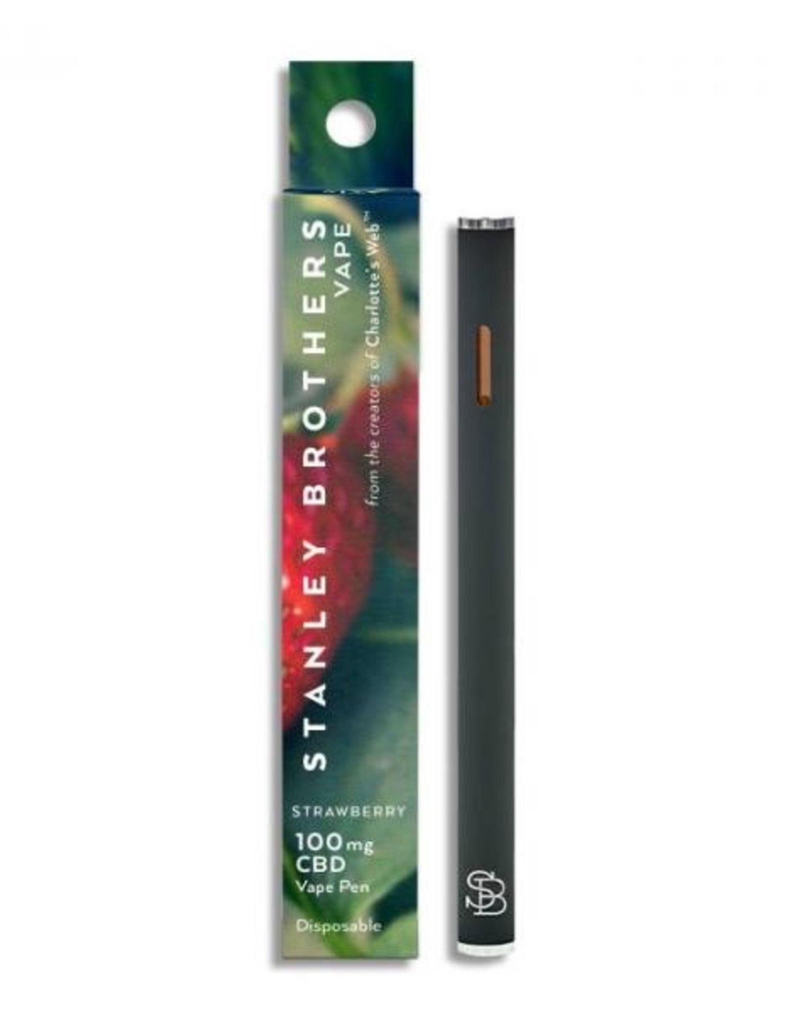 Stanley Brothers Strawberry Disposable CBD Vape - 100mg
