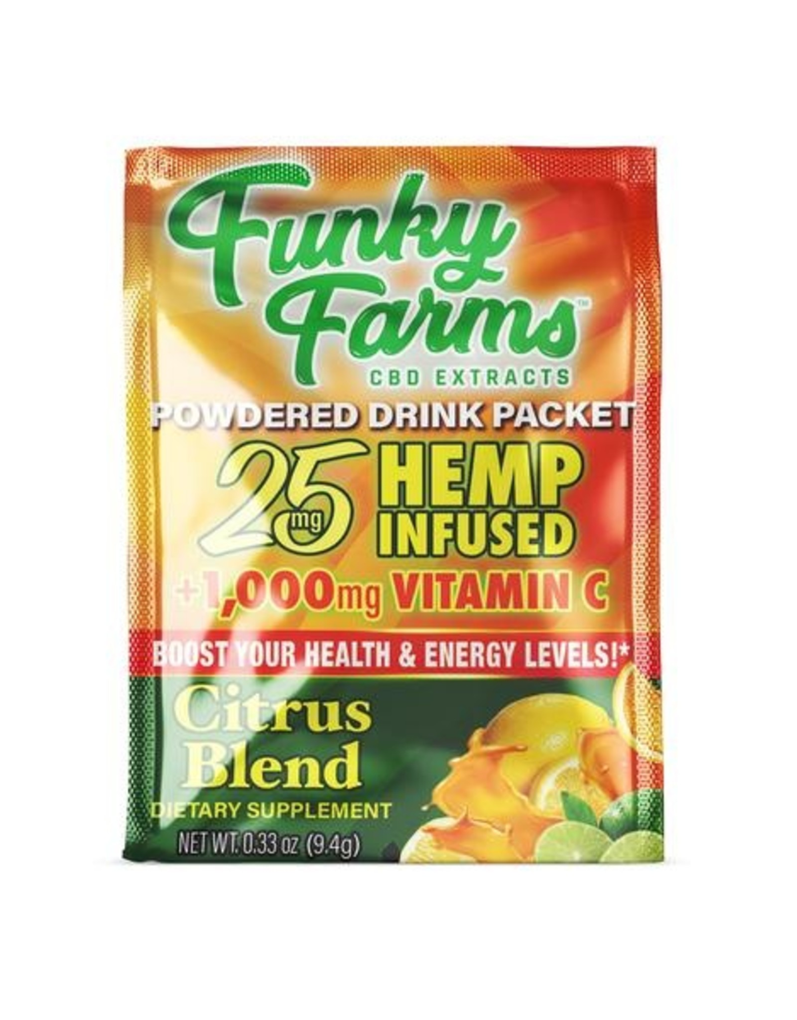 Funky Farms Citrus Blend Hemp Infused Drink Mix - 25mg