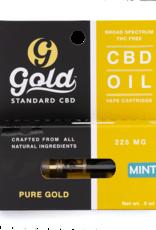 Gold Standard CBD Mint CBD Vape Catridge - 0.5mL/225mg