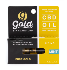 Gold Standard CBD Gold Standard Mint CBD Vape Catridge - 0.5mL/225mg