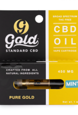Gold Standard CBD Mint CBD Vape Cartridge - 0.5mL/450mg