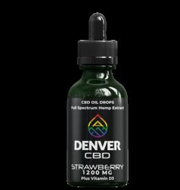 Denver CBD Denver CBD Strawberry Hemp CBD Oil w/Vitamin D 1200 MG/30ML