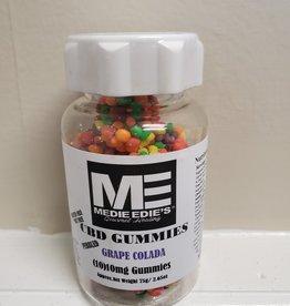 Medie Edie's Medie Edie's Pebbled Grape Colada CBD Gummies - 10ct/10mg/100mg