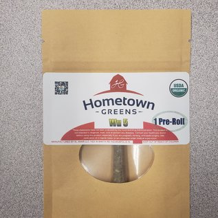 Hometown Greens Wu 5 Hemp Flower - Pack of 3 Pre-Rolls (2.4g)