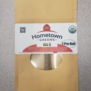 Hometown Greens Wu 5 Hemp Flower - Single Pre-Roll (0.8g)
