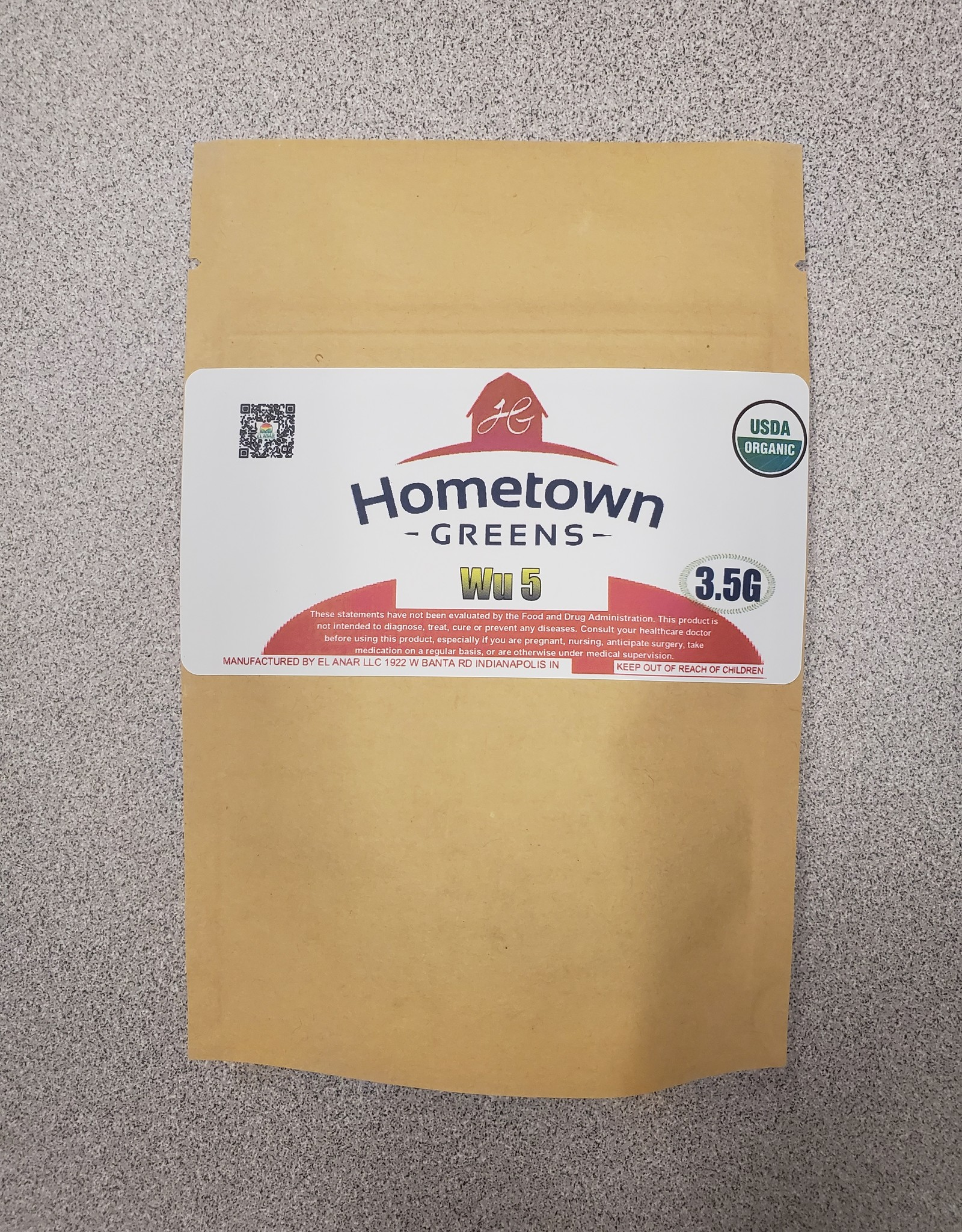 Hometown Greens Wu 5 Hemp Flower - 3.5g