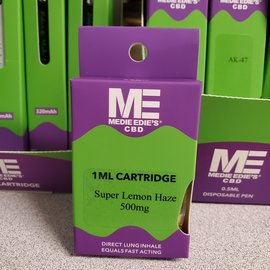 Medie Edie's Medie Edie's Super Lemon Haze CBD Vape Cartridge - 500mg - 1ml