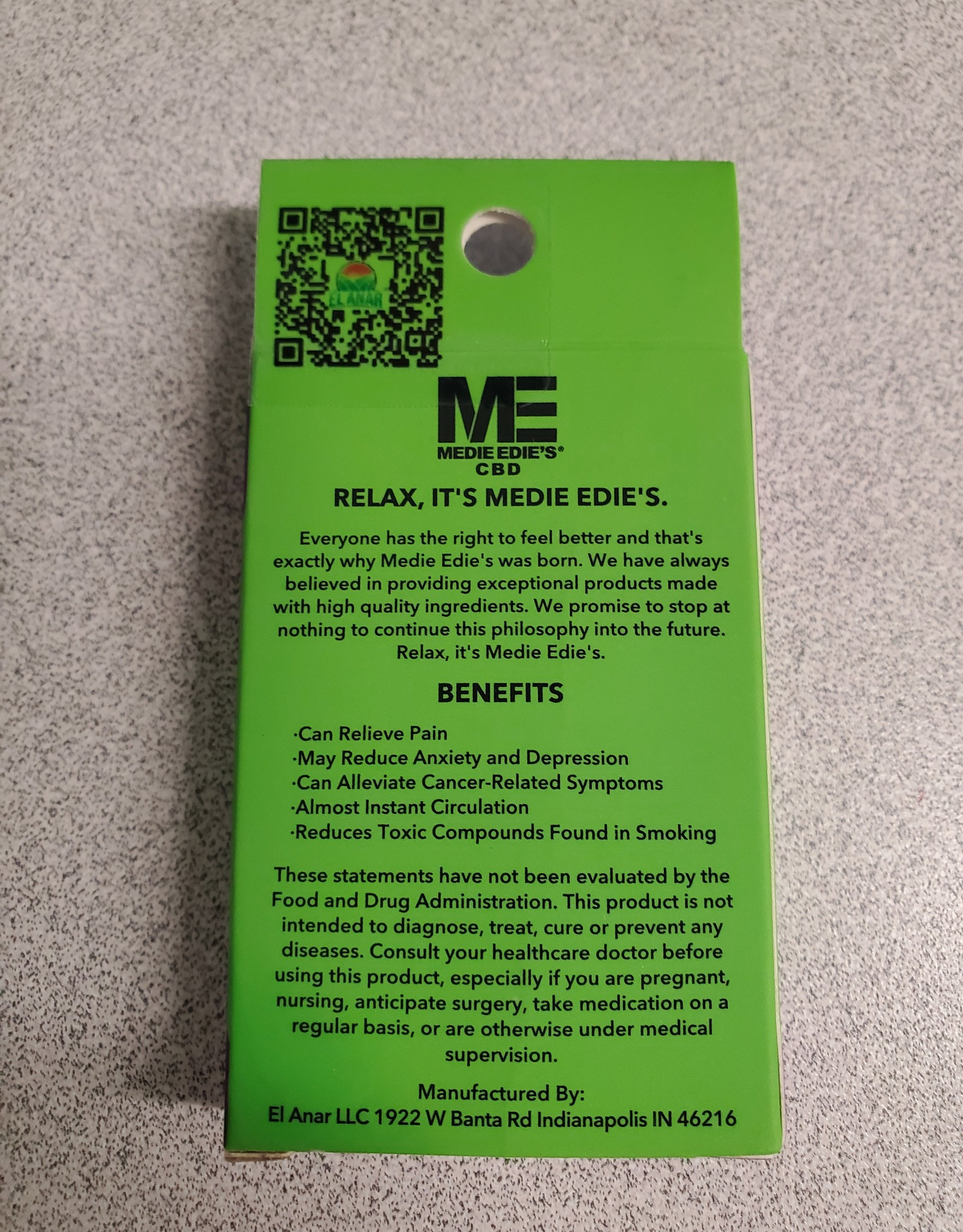 Medie Edie's Do-Si-Dos CBD Vape Cartridge - 225mg - 1ml