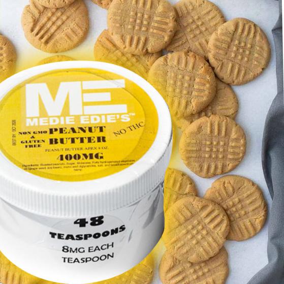 Medie Edie's Peanut butter CBD Cookies