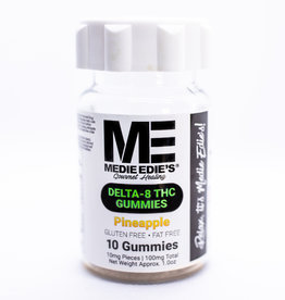 Medie Edie's Medie Edie's 10ct Delta 8 Gummies Pineapple -  10mg.100mg