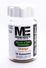 Medie Edie's Medie Edie's- Delta 8 THC Gummies- 10mg/100mg- Orange