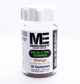 Medie Edie's Medie Edie's 10ct Delta 8 Gummies Orange  -  10mg.100mg