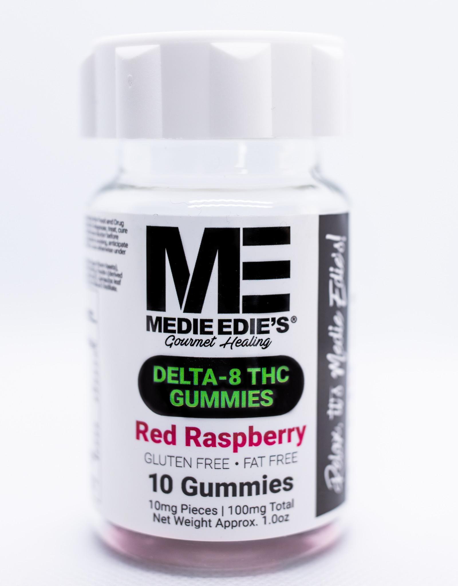 Medie Edie's Medie Edie's- Delta 8 THC Gummies- 10mg/100mg- Red Raspberry