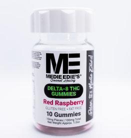 Medie Edie's Medie Edie's 10ct Delta 8 Gummies Red Raspberry -  10mg.100mg