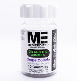 Medie Edie's Medie Edie's 10ct Delta 8 Gummies Grape Colada -  10mg.100mg